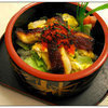 <p>Broiled Eel, Sushi Rice & Vegetable comes with Soup or Salad</p>