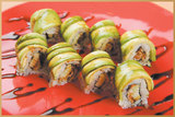 <p>bottom: Eel & Cucumber, top : Sliced Avocado</p>
